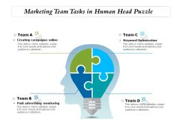 Marketing Team Tasks In Human Head Puzzle