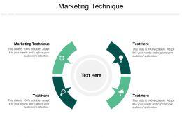 Marketing Technique Ppt Powerpoint Presentation Professional Show Cpb