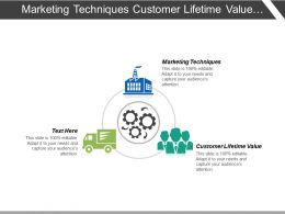 Marketing Techniques Customer Lifetime Value Client Acquisition Strategy Cpb