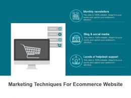 Marketing Techniques For Ecommerce Website Ppt Background