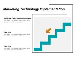 Marketing Technology Implementation Ppt Powerpoint Presentation Infographic Template Display Cpb