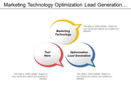 Marketing Technology Optimization Lead Generation Word Mouth Marketing Cpb
