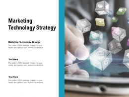 Marketing Technology Strategy Ppt Powerpoint Presentation Templates Cpb