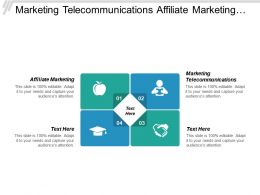 Marketing Telecommunications Affiliate Marketing Lead Generation Cpm Planning Cpb