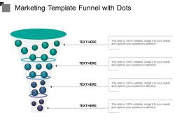 Marketing Template Funnel With Dots