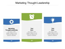 Marketing Thought Leadership Ppt Powerpoint Presentation Ideas Gridlines Cpb