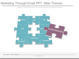 Marketing Through Email Ppt Slide Themes
