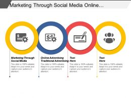 Marketing Through Social Media Online Advertising Traditional Advertising Cpb