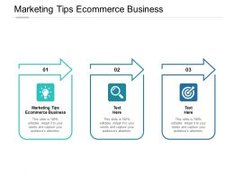 Marketing Tips Ecommerce Business Ppt Powerpoint Presentation Styles Cpb