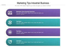 Marketing Tips Industrial Business Ppt Powerpoint Presentation Ideas Background Image Cpb