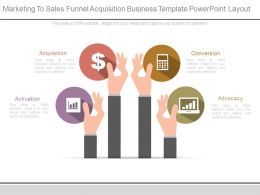 Marketing To Sales Funnel Acquisition Business Template Powerpoint Layout