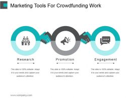Marketing Tools For Crowdfunding Work Powerpoint Graphics