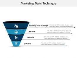 Marketing Tools Technique Ppt Powerpoint Presentation Gallery Example File Cpb