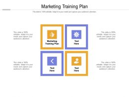 Marketing Training Plan Ppt Powerpoint Presentation Pictures Graphics Download Cpb