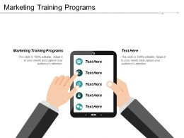 Marketing Training Programs Ppt Powerpoint Presentation Inspiration Graphics Template Cpb