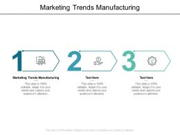 Marketing Trends Manufacturing Ppt Powerpoint Presentation File Model Cpb
