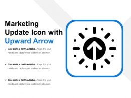 Marketing Update Icon With Upward Arrow