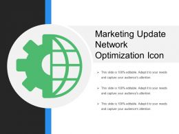 Marketing Update Network Optimization Icon