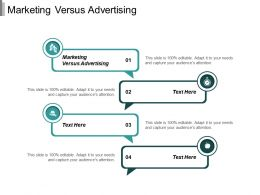 Marketing Versus Advertising Ppt Powerpoint Presentation Inspiration Graphics Tutorials Cpb