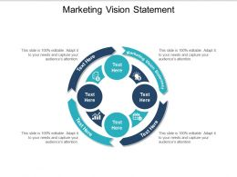 Marketing Vision Statement Ppt Powerpoint Presentation File Sample Cpb