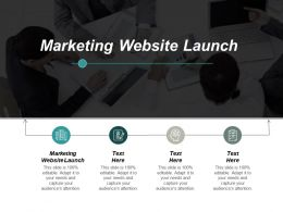 Marketing Website Launch Ppt Powerpoint Presentation Gallery Portrait Cpb
