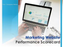 Marketing Website Performance Scorecard Powerpoint Presentation Slides