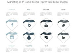 Marketing With Social Media Powerpoint Slide Images