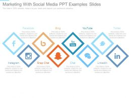 Marketing With Social Media Ppt Examples Slides