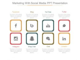 Marketing With Social Media Ppt Presentation