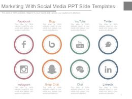 Marketing With Social Media Ppt Slide Templates