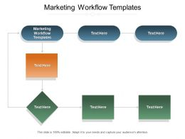 Marketing Workflow Templates Ppt Powerpoint Presentation Model Clipart Cpb