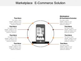 Marketplace E Commerce Solution Ppt Powerpoint Presentation Infographic Template Format Cpb
