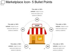 Marketplace Icon 5 Bullet Points