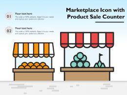 Marketplace Icon With Product Sale Counter
