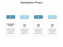 Marketplace Privacy Ppt Powerpoint Presentation Ideas Visual Aids Cpb