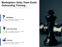 Marketplace Sales Team Goals Onboarding Training E Commerce Channels
