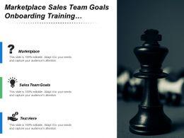 Marketplace Sales Team Goals Onboarding Training E Commerce Channels