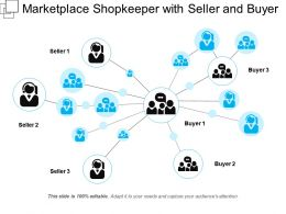 Marketplace Shopkeeper With Seller And Buyer
