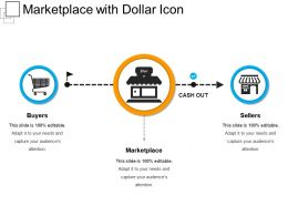 Marketplace With Dollar Icon
