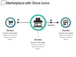 Marketplace With Store Icons