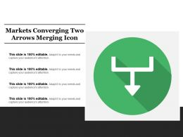 Markets Converging Two Arrows Merging Icon