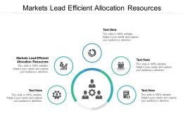 Markets Lead Efficient Allocation Resources Ppt Powerpoint Presentation Slides Cpb
