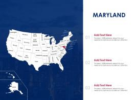 Maryland Map Powerpoint Presentation PPT Template