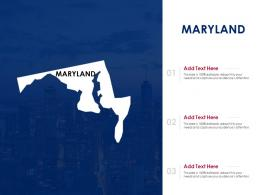 Maryland Powerpoint Presentation PPT Template