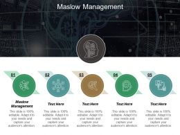 Maslow Management Ppt Powerpoint Presentation Diagram Graph Charts Cpb
