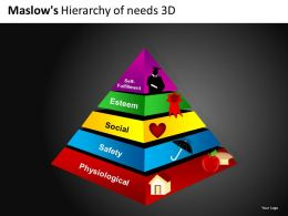Maslows Hierarchy 3d Powerpoint Presentation Slides DB