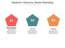 Maslows Hierarchy Needs Marketing Ppt Powerpoint Presentation Styles Cpb