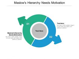 Maslows Hierarchy Needs Motivation Ppt Powerpoint Presentation Outline Layouts Cpb