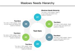 Maslows Needs Hierarchy Ppt Powerpoint Presentation Portfolio Inspiration Cpb