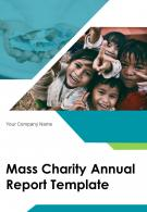 Mass Charity Annual Report Template PDF DOC PPT Document Report Template